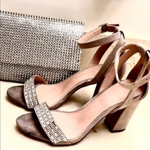 Steve Madden Heels with stuffed crystals